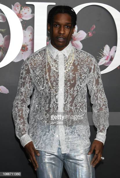 Rocky attends the photocall for Dior PreFall 2019 Men's Collection at Telecom Center on November 30 2018 in Tokyo Japan