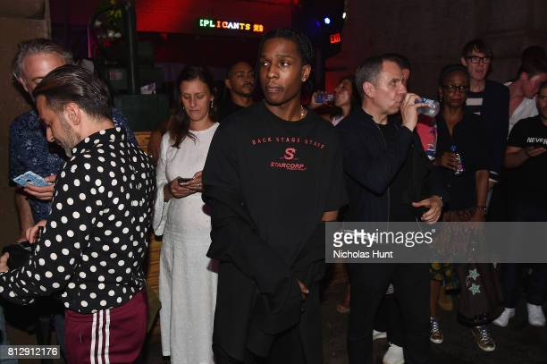 Rocky attends the Raf Simons Front Row/Backstage at NYFW Men's July 2017 on July 11 2017 in New York City