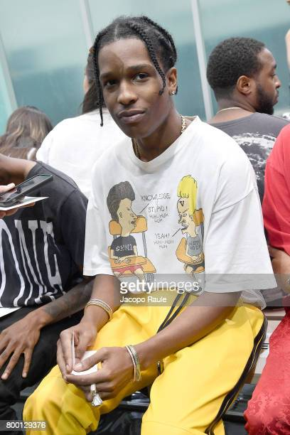 Rocky attends the Vlone Menswear Spring/Summer 2018 show as part of Paris Fashion Week on June 23 2017 in Paris France
