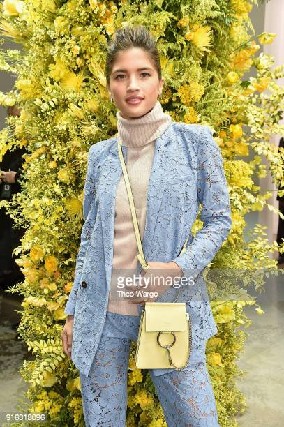 Rocky Barnes attends the Jason Wu front row during New York Fashion Week The Shows at Gallery I at Spring Studios on February 9 2018 in New York City