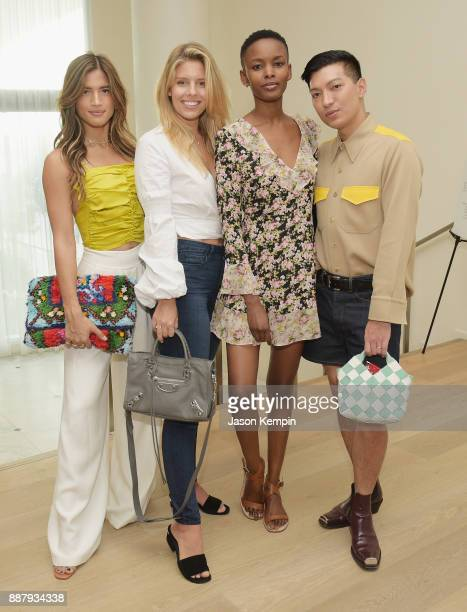 Rocky Barnes Natasha Oakley Flaviana Matata and Bryan Boy attend Room 2022 An Installation By Es Devlin Presented By American Express Platinum At The...