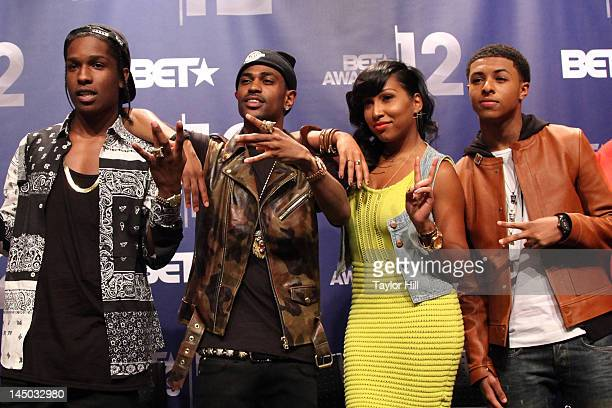Rocky Big Sean Melanie Fiona and Diggy Simmons attend the BET Awards '12 Nominations Press Conference at BET Studios on May 22 2012 in New York City