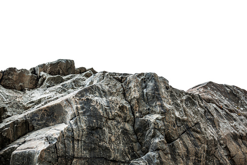Rocky cliff isolated on white 538527249