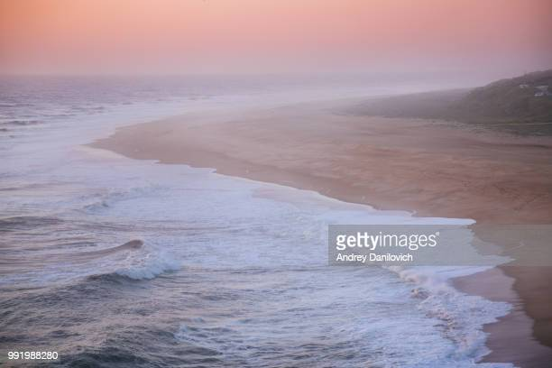 rocky cliffs and the ocean - leiria district stock photos and pictures