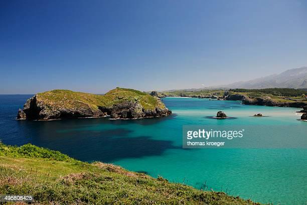 Rocky coast, Spanish Atlantic coast, near Llanes, Bay of Biscay, Asturias, Northern Spain, Spain