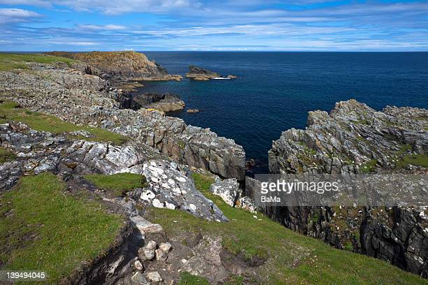Rocky Coastline at Butt of Lewis, Scotland, UK