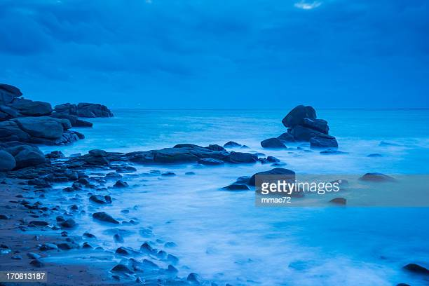 rocky coastline, bretagne, france - cotes d'armor stock photos and pictures