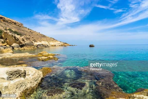 Rocky coastline of Gozo