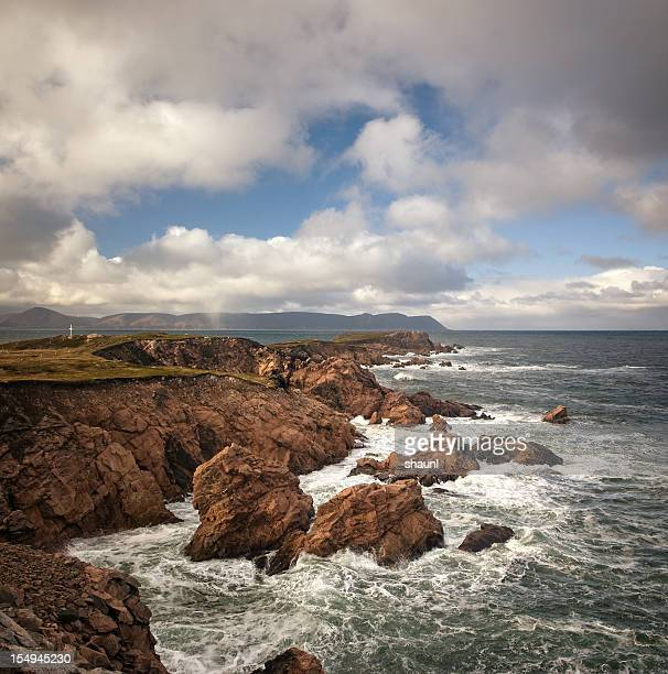 rocky coastline - cape breton island stock pictures, royalty-free photos & images
