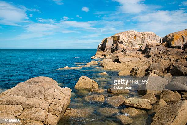 rocky coastline - dalkey stock pictures, royalty-free photos & images