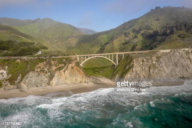 rocky creek bridge - big sur, ca - monterey peninsula stock pictures, royalty-free photos & images