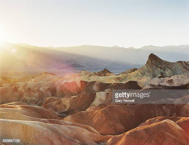 Rocky desert landscape of Zabriskie Point