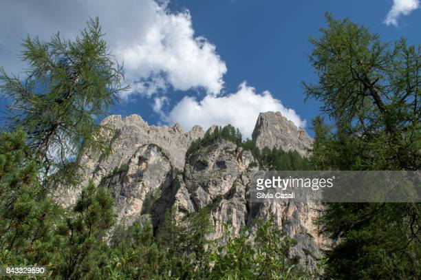 Rocky Dolomites Mountains in summer