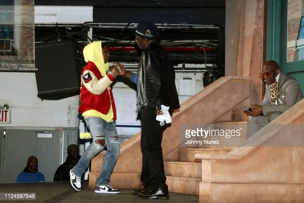 A$AP Rocky Fab 5 Freddy and Dapper Dan appear onstage at Stoop Talks with A$AP Rocky Dapper Dan at Terminal 5 on February 12 2019 in New York City