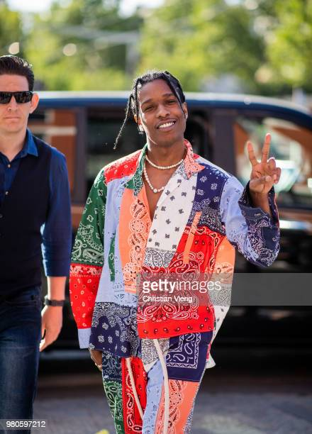 Rocky is seen outside Dries Van Noten on day three of Paris Fashion Week Menswear SS19 on June 21 2018 in Paris France