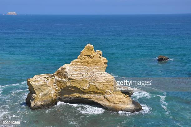 Rocky Island at Supay Beach in Paracas, Peru