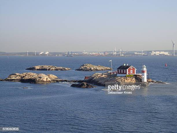 Rocky Islands with Lighthouse, Gothenburg Sweden