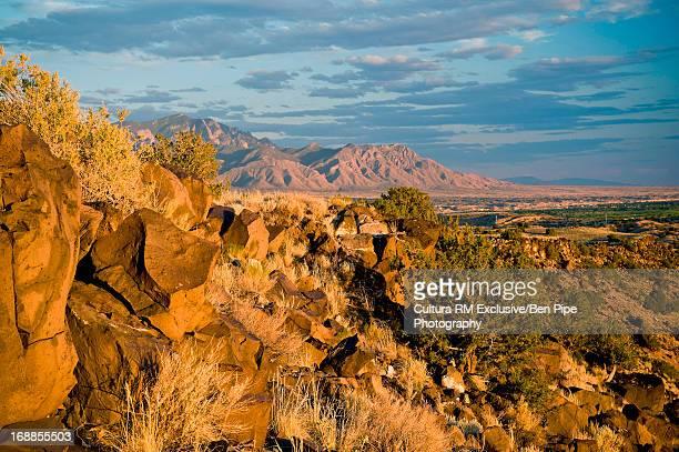 Rocky landscape near Albuquerque, New Mexico, USA