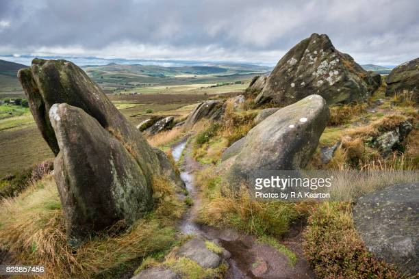 Rocky landscape on the Staffordshire moorlands
