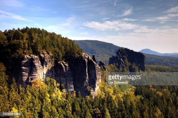 Rocky landscape, Saxon Switzerland, Saxony, Germany