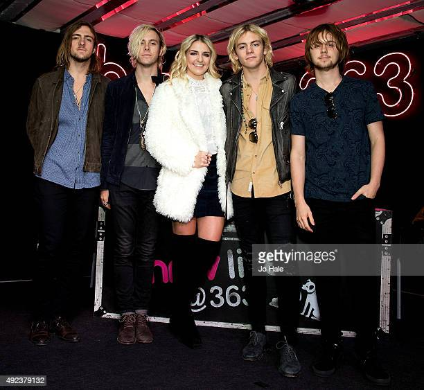 Rocky Lynch Riker LynchRydel LynchRoss Linch and Ellington Ratliff of R5 visit hmv to celebrate the release of their new album 'Sometime Last Night'...