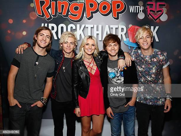 Rocky Lynch Ross Lynch Rydel Lynch Ellington Ratliff and Riker Lynch attend the Pop/Rock Sensation R5 and Ring Pop Premiere #RockThatRock Music Video...
