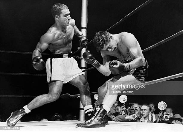 Rocky Marciano Defending His World Heavyweight Title