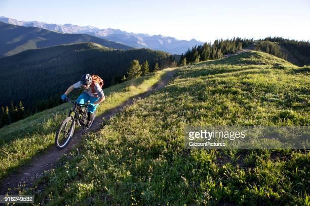rocky mountain bike ride - mountain biking stock pictures, royalty-free photos & images
