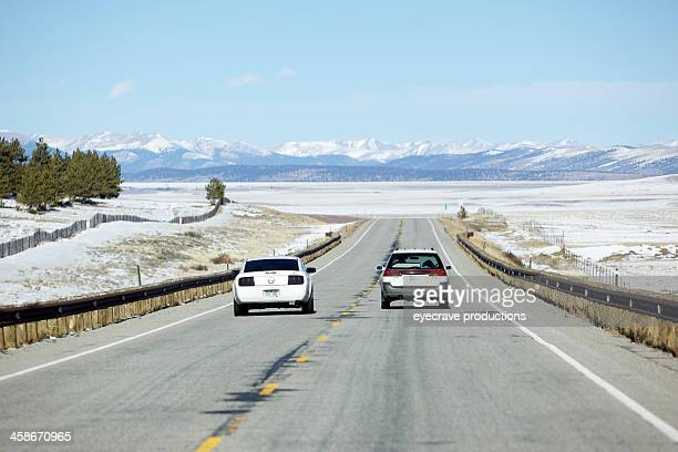 rocky mountain driving eastern colorado traffic - moving past stock photos and pictures