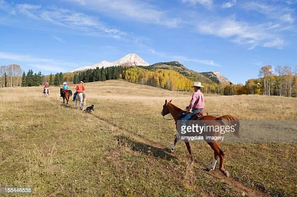 乗馬ロッキー山脈の風景