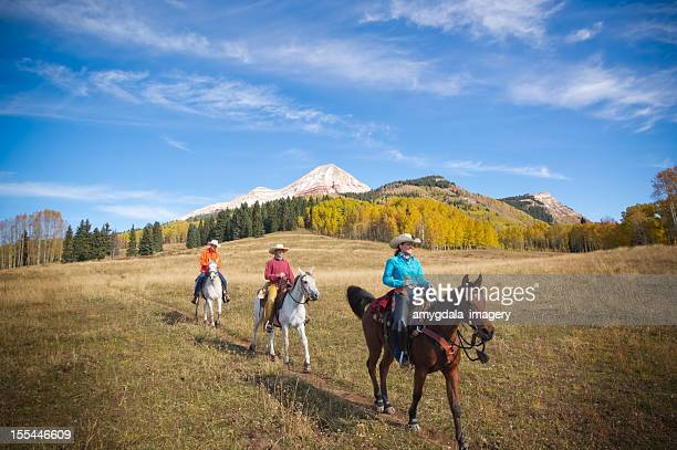rocky mountain panorama di cavallo