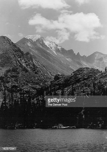 Rocky Mountain Nat'l Park Longs Peak from across Bear Lake;