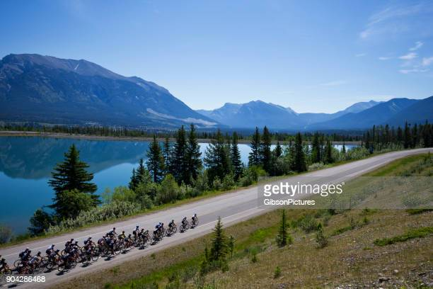 rocky mountain road bicycle race - cycling event stock pictures, royalty-free photos & images