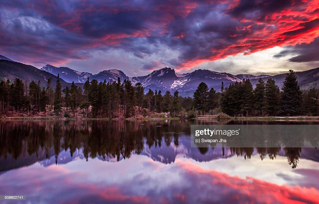 Rocky mountain sunset : Foto de stock