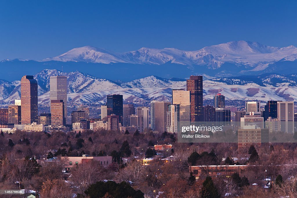 Rocky Mountains from the east : Stock Photo
