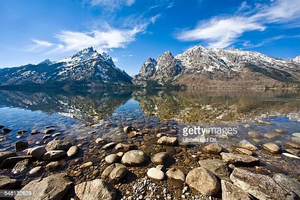 USA Rocky Mountains Jenny Lake in the background the Teton range