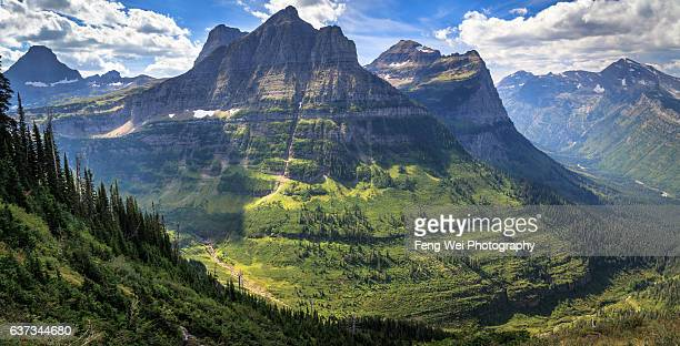 Rocky Mountains Near Logan Pass, Glacier National Park, Montana, USA