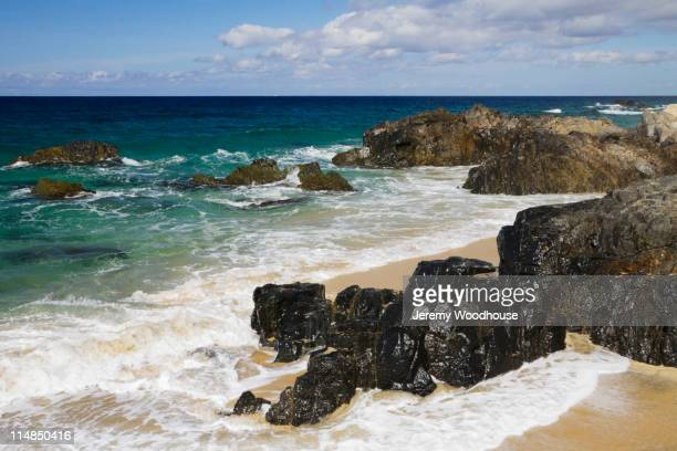 rocky pacific coast and beach - jeremy woodhouse stock pictures, royalty-free photos & images