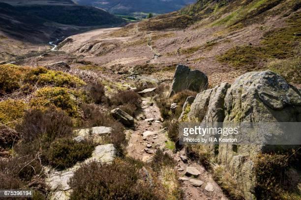 Rocky path on the Pennine Way, North Derbyshire, England