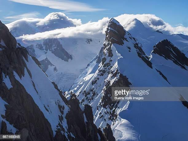 Rocky peak in the Swiss Alps