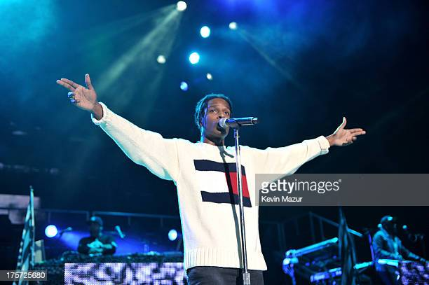 Rocky performs at Nikon at Jones Beach Theater on August 6 2013 in Wantagh New York