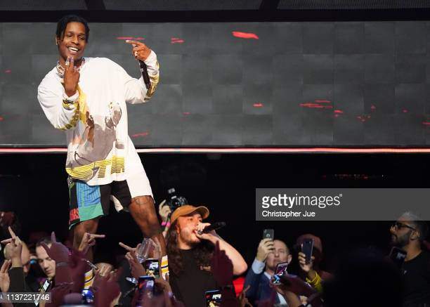 Rocky performs at the MARQUEE Singapore grand opening celebration on April 13 2019 in Singapore
