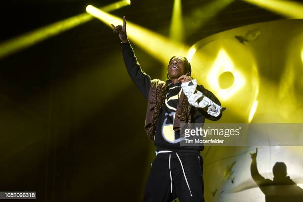 Rocky performs during the 2018 Treasure Island Music festival at Middle Harbor Shoreline Park on October 13 2018 in Oakland California