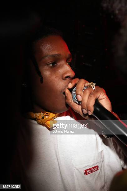 Rocky performs during the ASAP Mob Album Release Show at Highline Ballroom on August 24 2017 in New York City