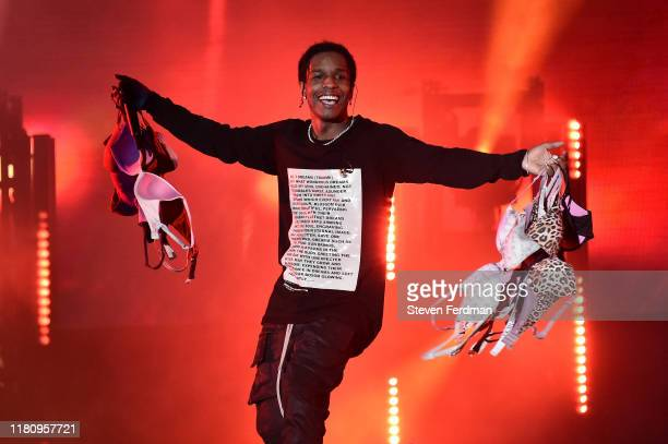 Rocky performs live during Rolling Loud music festival at Citi Field on October 13 2019 in New York City