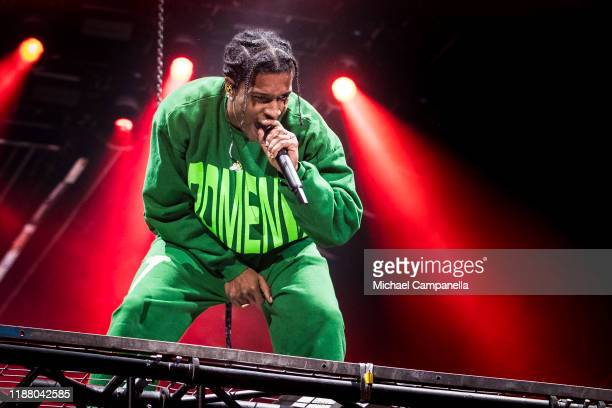 Rocky performs live in concert at the Ericsson Globe Arena on December 11 2019 in Stockholm Sweden The American rapper performs in Stockholm where he...