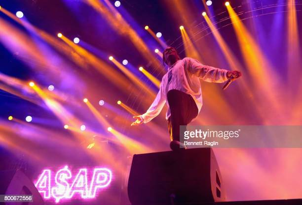 Rocky performs onstage at night three of the STAPLES Center Concert sponsored by Sprite during the 2017 BET Experience at Staples Center on June 24...