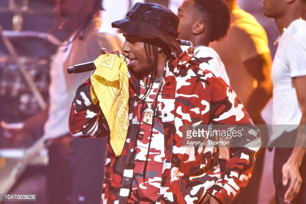 Rocky performs onstage during the 2018 BET Hip Hop Awards at Fillmore Miami Beach on October 6 2018 in Miami Beach Florida