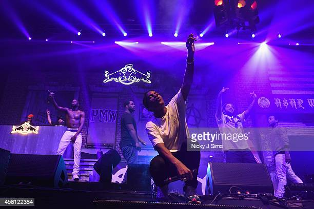 Rocky performs with A$AP Mob onstage at Red Bull Culture Clash at Earls Court on October 30 2014 in London England