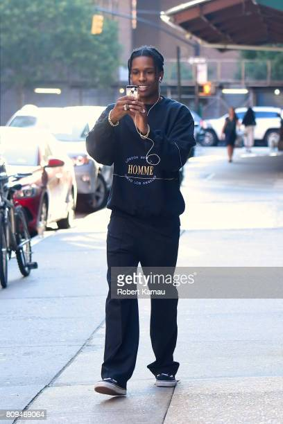 Rocky seen out walking in Tribeca on July 5 2017 in New York City